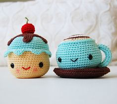 Mr. Coffee And Miss Cupcake Amigurumi Pattern