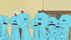 Mister Meeseeks, Rick Y Morty, Get Schwifty, Funny Scenes, Movie Quotes, Family Guy, Animation, Youtube, Crafts