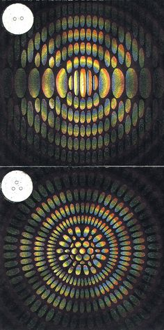 Amédée Guillemin, Polychrome Interference Patterns, Le Monde Physique, 1882 / Sacred Geometry <3