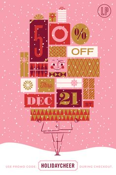 Lab Partners Holiday Sale - Email marketing design and illustration for holidays