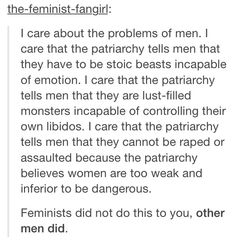 I am a feminist and I do not hate men.