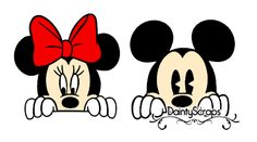 Peaking Minnie and Mickey Mouse SVG SVG's Dainty Scraps