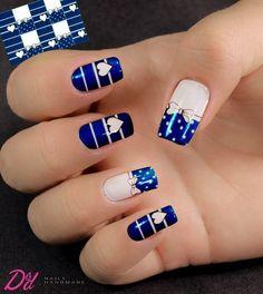 Perfect Nails, Gorgeous Nails, Pretty Nails, August Nails, Blue Nail Designs, Dry Nails, Cute Nail Art, Stylish Nails, Nail Art Hacks