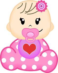 Dibujos. Clipart. Digi stamps - Baby Girl - Niña Bebé