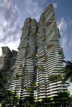 Infinity at Worli, Mumbai, India. rascacielos en x Futuristic Architecture, Beautiful Architecture, Residential Architecture, Contemporary Architecture, Art And Architecture, Futuristic Design, Chinese Architecture, Triangular Architecture, Contemporary Building