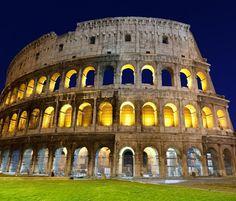 Colosseum Rome Night view