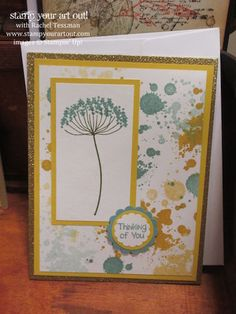 "Lori demonstrates ""grunge"" at our Demos Galore Stampin' Up! Simple Birthday Cards, Send A Card, Get Well Cards, Watercolor Cards, Stamping Up, Flower Cards, Creative Cards, Scrapbook Cards, Stampin Up Cards"