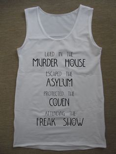American Horror Story Asylum Tank Top by TankTheTopp on Etsy, $19.00