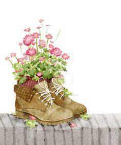 flower shoes by xuanlocxuan.deviantart.com on @DeviantArt