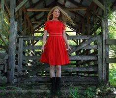 Simple Dress, in Red