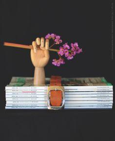 Välkomna hit! | DIY Mormorsglamour | Sköna Hem Belt up your magazines to keep together & organized