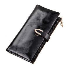 Comprar carteras de cuero auténtico billetera cremallera larga con hebilla tendencia de moda [LH63011] - €30.31 : bzbolsos.com, comprar bolsos online