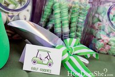 Golf Par-TEE Candy Scoop with Tag