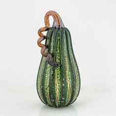 Crackle Pumpkins by Leonoff Art Glass: Art Glass Sculpture available at www.artfulhome.com