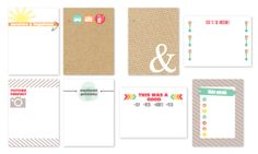 Free Summer Journal Cards from Chic Tags