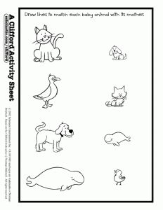 baby animals match activity sheet animals theme misc ideas pinterest print for kids. Black Bedroom Furniture Sets. Home Design Ideas