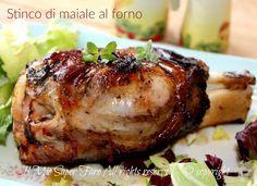 Baked pork knuckle perfect recipe- Baked pork knuckle recipe for New Year's menu # NEW YEAR Chicken Ham, Asian Chicken Recipes, Ham Recipes, Italian Recipes, Dinner Recipes, Baked Roast, Baked Pork, Pork Shoulder Picnic, Pork Fillet