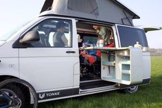 The Tonke Van starts at €40,000 without the pop-up roof, swing-out kitchen and other optional equipment