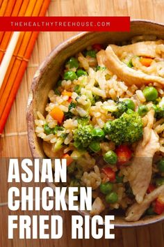 Love ordering Chinese ⛩ takeout but guilty about its high sodium, MSG, and high-caloric content? This Asian Chicken Fried Rice🍚Recipe is the solution to your problem. It's low in calories and sodium, and it doesn't have MSG and other empty-calorie seasonings. Now, you can enjoy Asian food even if you're #eatingclean and/or #detoxing! #easydinner #dinnerrecipe #familydinner #familymeals #quickdinner #chickenrecipes #chickendinner #easychickenrecipe #takeout #easyrecipes Asian Chicken Fried Rice Recipe, Easy Chicken Recipes, Rice Recipes, Asian Dinner Recipes, Asian Recipes, Ethnic Recipes, High Sodium, Allergy Free Recipes, Empty