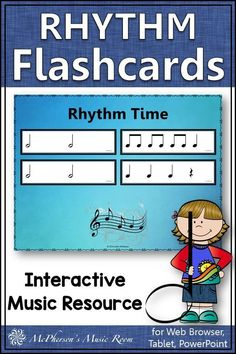 LOVE these interactive rhythm flashcards reviewing half notes! Easy elementary music resource to add to your music lesson plans and easy to store! A must have music education resource. Check it out!