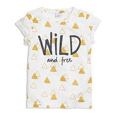 T-paita, jossa painatus Valkoinen