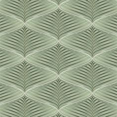 Artistic Tile | Ceramic | Jardin Collection;  Palm Pattern in Fennel Green