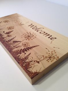 Welcome wood burned sign-dandelions silhouette-pyrography # . - Welcome wood burned sign-dandelions silhouette-pyrography knitting bag - Wood Burning Tips, Wood Burning Crafts, Wood Burning Patterns, Wood Crafts, Wood Burning Projects, Diy Wood, Wood Burning Techniques, Diy Crafts, Wood Burning Stencils