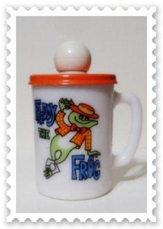 Vintage 70s Avon Freddy Frog Mug Juvenile Novelty Collectible Kids Cup