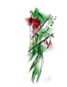 el corazón del quetzal... #quetzal #bird #illustration #ink #tattoo