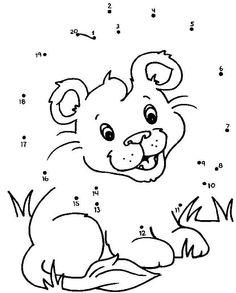 Daniel in the Lions Den Crafts Printables | Daniel in Lion's Den Craft | lion_cub_dot_to_dot « Oak Grove ...
