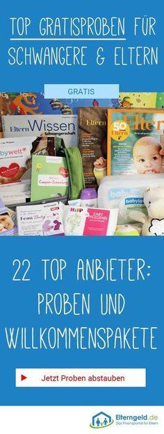 Hier findest du die besten Proben und Willkommenspakete für Schwangere und Eltern. Bei 22 Anbietern kannst du richtig abstauben!