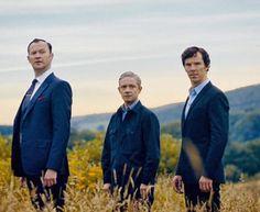 Mycroft, John, & Sherlock