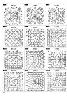 Discover thousands of images about Crochet motif chart patterncrochet square pattern Crochet Bedspread Patterns Part 17 - Beautiful Crochet Patterns and Knitting Patterns - Crochet Bedspread Patterns Part Granny Square Rose SThis Pin was discove Motifs Granny Square, Granny Square Crochet Pattern, Crochet Blocks, Crochet Diagram, Crochet Chart, Crochet Squares, Thread Crochet, Crochet Granny, Granny Squares