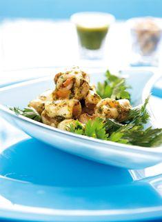 Grilled squid with basil pesto! Grilled Squid, Greek Beauty, How To Cook Fish, Basil Pesto, Calamari, Mediterranean Recipes, Pasta Salad, Food Processor Recipes, Seafood