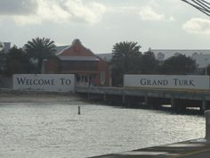 the pier at Grand Turk