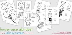 Free Preschool Color by Number Printables