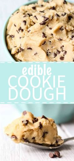Edible cookie dough is sweet and delicious! It's like eating the real cookie dough, minus the eggs so you can eat it by the spoon full or dip it with your favorite snacks. This edible cookie dough recipe is so easy to make because it only has a few ingredients and it takes minutes to come together.