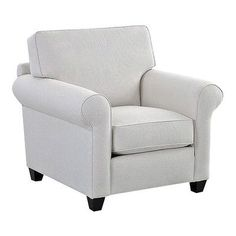 Wayfair Custom Upholstery Eliza Arm Chair Upholstery: Shack Biscuit