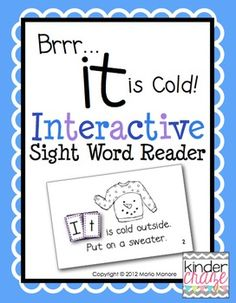 Winter-themed emergent reader. Super cute and only $1