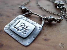 Silver Love Necklace Valentines Jewelry Heart by ArtandSoulJewelry, $83.00