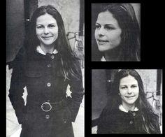 Silvia in the 1970s (future queen of Sweden)