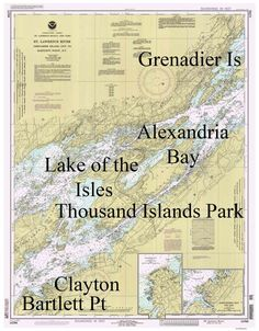 St Lawrence River Grenadier Island to Bartlett Point, Clayton Alexandria Bay Thousand Nautical Map Reprint-Great Lakes NY Saint Lawrence River, St Lawrence, Ship Map, Alexandria Bay, Bay Lake, Island Park, Thousand Islands, Wall Maps, The St