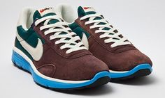 The latest news from Nike is the 'Pre Montreal Vintage Lunar Racer'. This retro sneaker comes with uppers of suede and nylon. The shoe also comes with a bright blue Lunarlon midsole, making this a comfortable easy to wear sneaker. Kudos for a great color combination.