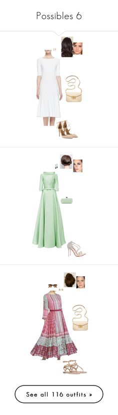 """""""Possibles 6"""" by gracebeckett ❤ liked on Polyvore featuring Armani Collezioni, Aquazzura, Marc by Marc Jacobs, Naeem Khan, Christian Louboutin, Ray-Ban, Valentino, Tory Burch, Marni and Oscar de la Renta"""