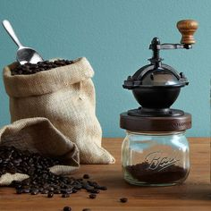 STEAMPUNK COFFEE MILL | coffee grinder, cast iron | UncommonGoods