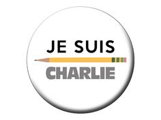 "Je Suis Charlie Pinback Button  I Am Charlie Hebdo Large 2.25"" Pin Badge by psychedelictara"