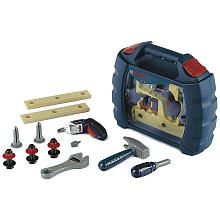 Bosch Toy Tool Set Case with Ixolino Branson needs this how cute. Just like daddys