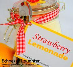 Strawberry Lemonade Mix... in a Jar!