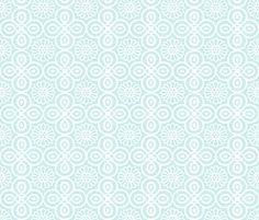 Yasmine tile print in Duck egg blue fabric by torie_jayne on Spoonflower - custom fabric