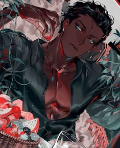 manga art I think his apartment plants are getting a bit out of hand. Hot Anime Boy, Cute Anime Guys, Black Anime Guy, Wolf Boy Anime, Art Manga, Anime Manga, Anime Boy Drawing, Anime Sketch, Anime Naruto
